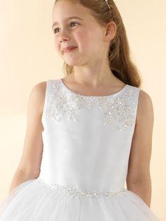 LWCD43 Communion Dress Girls First Communion Dresses, Holy Communion Dresses, First Holy Communion, Little White, Ava, Bodice, Princess, Pretty, Skirts