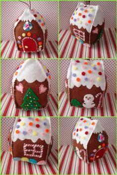 What?! A felt gingerbread house!