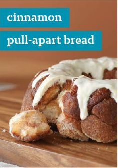 Cinnamon Pull-Apart Bread – Prep this dessert in just 15 minutes. They'll go ape for every perfectly glazed bite.