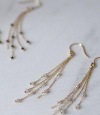Delicate Chain & Stone Earrings