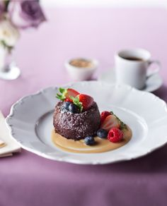 Treat yourself to Molten Chocolate Cake at The Grande onboard #QuantumoftheSeas. #thischangeseverything