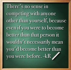 Your Only Competition — enrich by kennyrich
