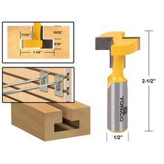 Shank Straight T-Track T-Slot Router Bits Mini Woodworking Cutter Power Tools Machinery Accessories (Blue) Router Projects, Easy Woodworking Projects, Woodworking Techniques, Wood Projects, Awesome Woodworking Ideas, Woodworking Supplies, Woodworking Videos, Router Woodworking, Woodworking Furniture