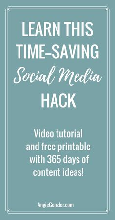 Are you struggling to post fresh content to social media? Learn this time-saving hack. via @angiegensler