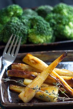 Honey & Maple Roasted Parsnips - Erren's Kitchen - These are sweet, crisp, and golden brown – Yum!