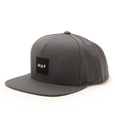 Get next level style with the HUF box logo patch at the front of a lightweight hat that features an adjustable snapback sizing piece for a custom fit.