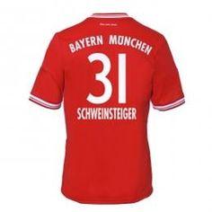 13-14 Bayern Munich #31 Schweinsteiger Home Soccer Jersey Shirt