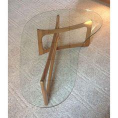 Image of Adrian Pearsall Walnut & Glass Coffee Table 50 x 34 x 15