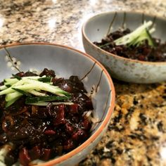 Ahjummarecipes.com | Easy Korean Black bean noodles (Jjajangmyun, 짜장면)