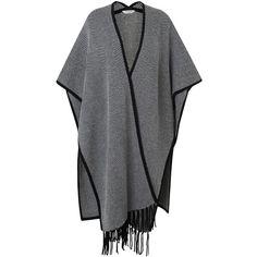Yumi black cape coat