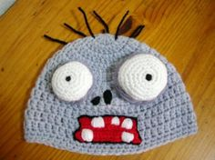 Gorro plantas vs zombies - adulto crochet