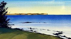 Watercolor Art Diy, Watercolor Video, Watercolour Tutorials, Waves, Ocean, Landscape, Animals, Outdoor, Videos