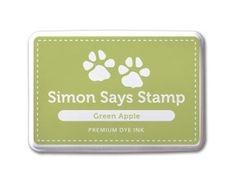 Simon Says Stamp Premium Dye Ink Pad GREEN APPLE ink006