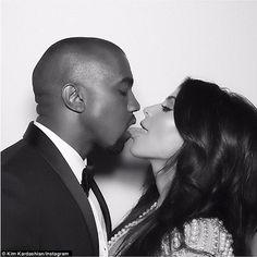 They definitely said I do! Kim Kardashianseductively placed her tongue in between husband...
