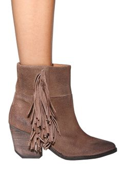 Jeffrey Campbell Roswell Fringe Bootie - like this but stacked platform, true ankle boot with toes peeking out
