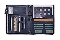 Apple iPad Pro Portfolio, Leather Organizer Case with Pockets for 12.9 inch iPad Pro,Blue iCarryAlls http://www.amazon.com/dp/B01AU5365K/ref=cm_sw_r_pi_dp_ecq4wb1CE9SG9
