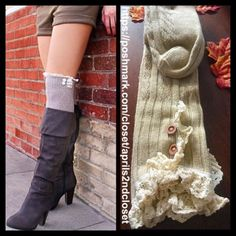 ❗️1-HOUR SALE❗️Tall Over The Knee Boot Socks NEW WITH TAGS Tall Over The Knee Boot Socks Thigh Highs  * Super soft & cozy, textured/ribbed fabric; Winter weight warmth  * Over the knee length & thigh high w/crochet cuffs & button details  * Tagged one size fits most  * Incredible quality.  Fabric: Acrylic, Polyester & Spandex Color: Natural ***The model is wearing a similar style for styling purposes only; socks for sale are thicker.  No Trades ✅Offers Considered*/Bundle Discounts✅ *Please…