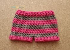 Simple Striped Shorts The pattern below can be viewed for FREE or you can purchase the PDF for $1 Materials: Red Heart Super Saver (2 Colors) Yarn Needle Size I 5.5 mm hook Abbreviations: Sl st- Slip Stitch Ch- Chain Sc- Single Crochet Hdc- Half Double Crochet FpHdc- Front Post Half Double Crochet BpHdc- Back Post Half Double Crochet Gauge [...]