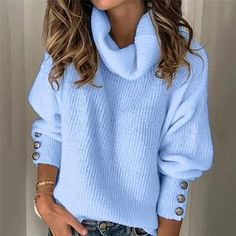 BONITA – Chubby-warm winter long sleeve BONITA – Mollig-warmer Winter-Langarm Image by Stefanie Hälsig The Ultimate Guide to Frauenschuhe The. Casual Sweaters, Pullover Sweaters, Sweaters For Women, Chunky Sweaters, Outfit Vestidos, Outfits Winter, Diy Mode, Outfit Trends, Mode Outfits