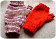 Basic fingerless mittens for lady or child