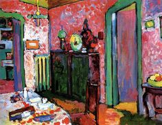 Interior (My Dining Room) by Wassily Kandinsky | Lone Quixote