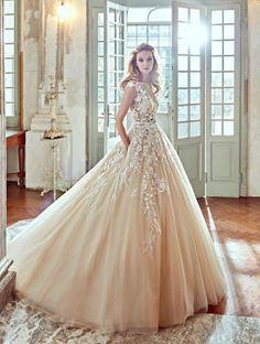 Vestidos de novia con falda voluminosa 2017: Luce como un auténtica princesa Image: 33