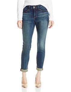 NYDJ Womens Petite Anabelle Skinny Boyfriend Jeans Oak Hill 8 Petite -- Learn more by visiting the image link.