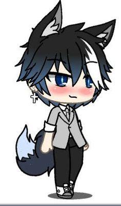 Cute Anime Character, Cute Characters, Character Drawing, Anime Characters, Chibi Boy, Cute Anime Chibi, Cute Animal Drawings Kawaii, Anime Wolf Girl, Demon Girl