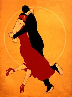 Art Deco Art by Ernesto García Cabral pics) Art Deco Posters, Vintage Posters, Vintage Art, Dance Posters, Art Deco Illustration, Couple Illustration, Art Quotidien, Moda Art Deco, Art Nouveau