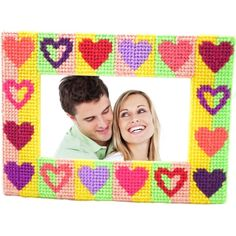 Modern and bright photo frame kit for any home decor.