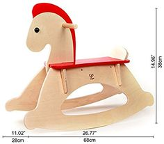 Amazon.com: Hape Rock and Ride Kid's Wooden Rocking Horse: Toys & Games