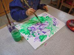 Malen mit Kleisterfarbe