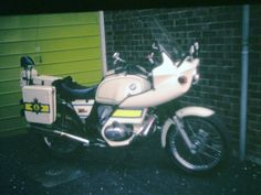 BMW police bike before the dismantle