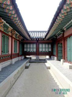 Taewonjeon und Umgebung vom Gyeongbokgung Palace in Seoul, Südkorea