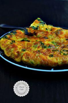 kahvaltılık otlu omlet yapımı