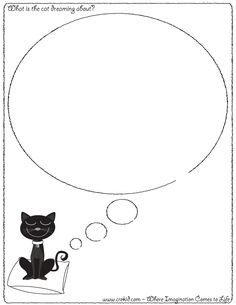 What is the cat dreaming about? CreKid.com - Creative Drawing Printouts - Spark your child's imagination and creativity. So much more than just a coloring page. Preschool - Pre K - Kindergarten - 1st Grade - 2nd Grade - 3rd Grade. www.crekid.com