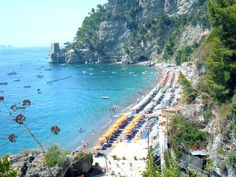 Fornillo Beach in Positano