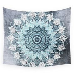 Society6 BOHOCHIC MANDALA IN BLUE Wall Tapestry Medium 68 x 80 >>> Want additional info? Click on the image.