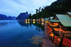 """This photo has taken at the beautiful place in Thailand name """"Kao-Sok""""  Khao Sok national park is located in Surat Thani province in Thailand. Its land area is 739 km², and it includes the Chiao Lan reservoir dammed by the Ratchaprapha dam."""