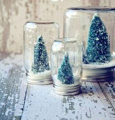 selbstgemachte geschenke weihnachten christbaum schnee