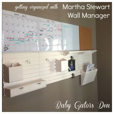 Get Organized with Martha Stewarts Wall Manager Available at Staples