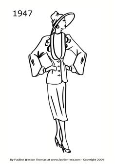 Suit - 1947 fashion history silhouette
