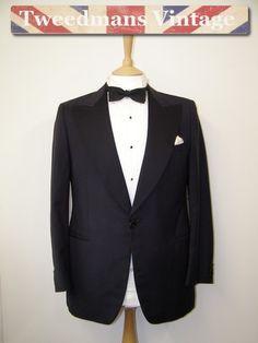 Midnight blue dinner jacket wool silk £44 @ Tweedmans Vintage