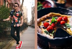 Justin Livingston at Scout Sixteen and Dutch Baby with Chocolate, Raspberries & Mint at What Should I Eat For Breakfast Today Justin Livingston, Raspberries, Acai Bowl, Dutch, Strawberry, Mint, Chocolate, Fruit, Breakfast