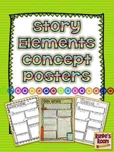 Story Elements Concept Posters (new) - concept posters for plot, setting, character, problem, resolution, theme, and conflict (also includes one for planning narrative writing). $