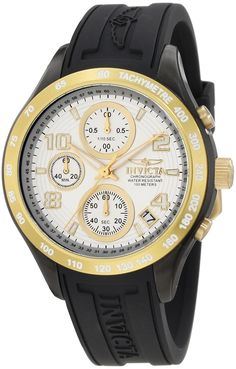 Invicta Women's 12098 Specialty Chronograph Dial Black Rubber Watch -- More info could be found at the image url.