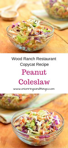 Peanut coleslaw is a delicious side dish made with cabbage, carrots, celery, green onions and peanuts dressed in a tangy vinaigrette dressing