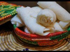 Ethiopian Food - Injera how to make recipe - Rice flour Version Not Tef Teff Amharic English Ethiopian Food Injera, Ethiopian Bread, Ethiopian Cuisine, Ethiopian Recipes, Teff Flour, Rice Flour, How To Make Bread, Food To Make, Ethopian Food