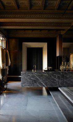 Creative Architecture, Interior, Design, Modern, and Luxury image ideas & inspiration on Designspiration Layout Design, Küchen Design, House Design, Design Ideas, Bathroom Sets, Modern Bathroom, Bathroom Marble, Masculine Bathroom, Bathroom Designs