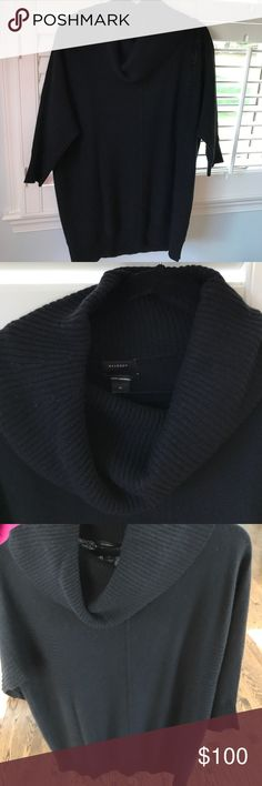Halogen Convertible Cowl Cashmere Sweater  Black M NWT Halogen Convertible Cowl Cashmere Sweater, Size Medium - Black Women's Halogen Sweaters Cowl & Turtlenecks